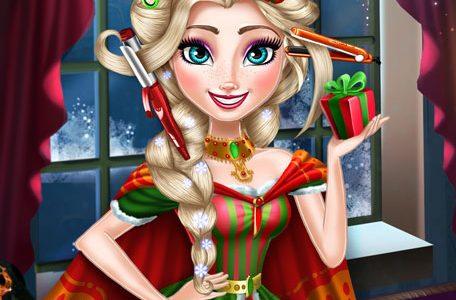 Hercegnő karácsonyi frizurája