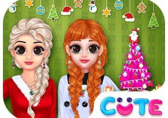 Hercegnős karácsonyi öltöztetős